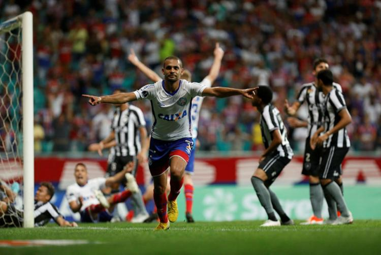 Basta um empate para o Esporte Clube Bahia se classificar - Foto: Tiago Caldas | Ag. A TARDE