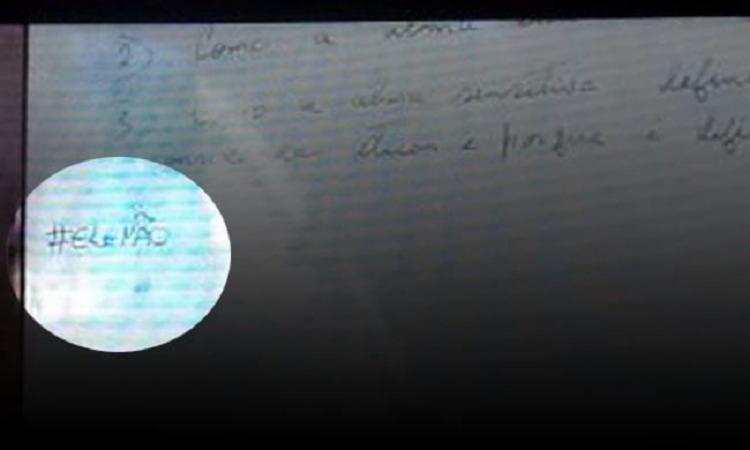 A mensagem foi transmitida após reportagem sobre as eleições em Vitória da Conquita - Foto: Reprodução