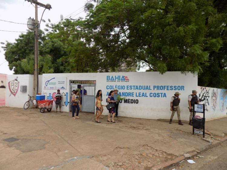 Colégios não registram filas - Foto: Miriam Hermes