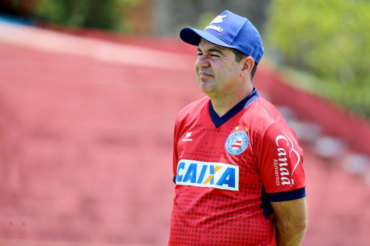 O técnico Enderson Moreira terá retornos importantes para o duelo deste sábado, 6 - Foto: Felipe Oliveira l EC Bahia