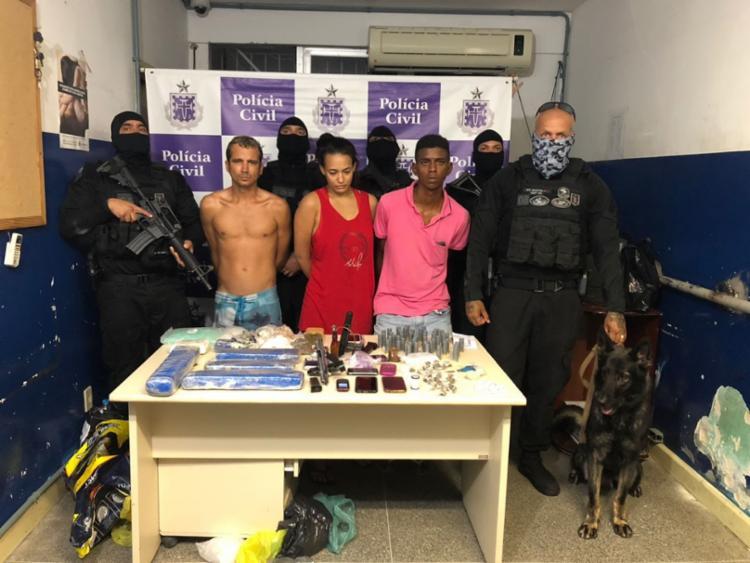 Trio foi preso em operação realizada na noite de quinta-feira - Foto: Divulgação | SSP-BA