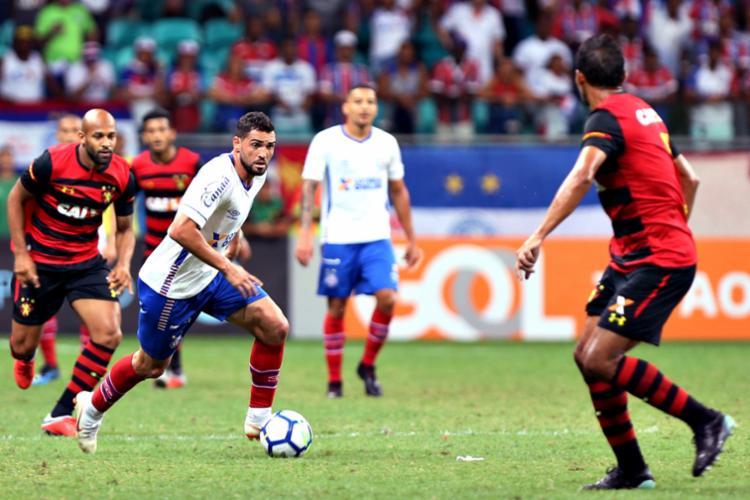Tricolor venceu o Sport por 2 a 0, no returno, na Fonte Nova - Foto: Felipe Oliveira   EC Bahia