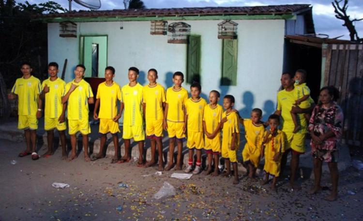 O time de Chitão, como ficou conhecida a família, terá 11 titulares e três reservas - Foto: Raimundo Mascarenhas | Calila Noticias