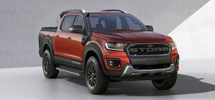 A RangerStorm terá visual off road com a mesma cor já disponível no EcoSport Storm