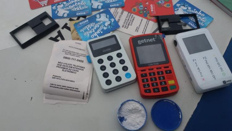 Os materiais foram encontrados no interior do veículo utilizado pelo suspeito - Foto: Divulgação | SSP-BA