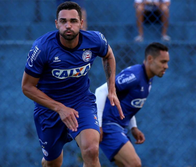 Enderson Moreira não confirma a escalação de Gilberto para a o jogo contra o Paraná - Foto: Felipe Oliveira | ECBahia