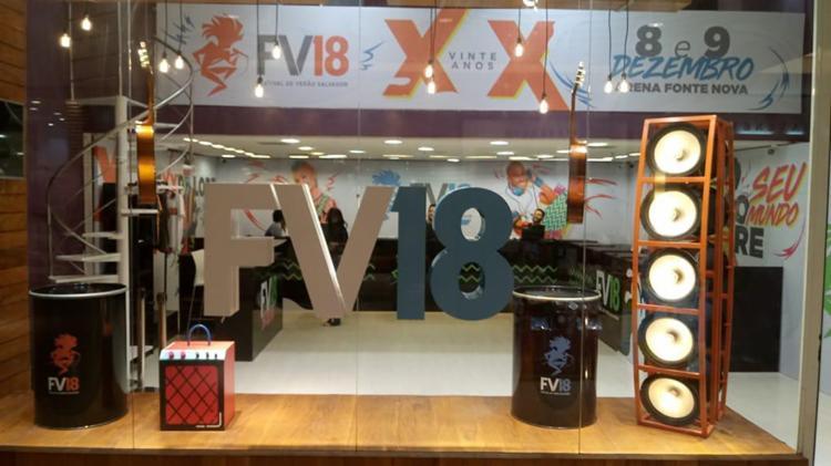 A loja #FV18 foi carinhosamente decorada com o objetivo de contagiar quem passar por ela com a energia da festa de 20 anos do Festival - Foto: Divulgação
