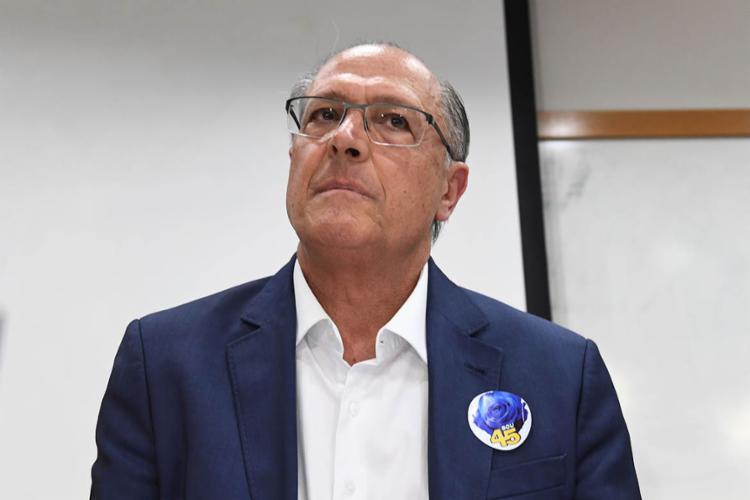 Alckmin também saudou os nomes vitoriosos do PSDB - Foto: Evaristo Sa   AFP