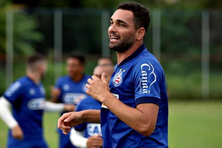 O atleta é a prioridade entre aqueles que o Bahia tenta renovar para a próxima temporada - Foto: Felipe Oliveira l EC Bahia