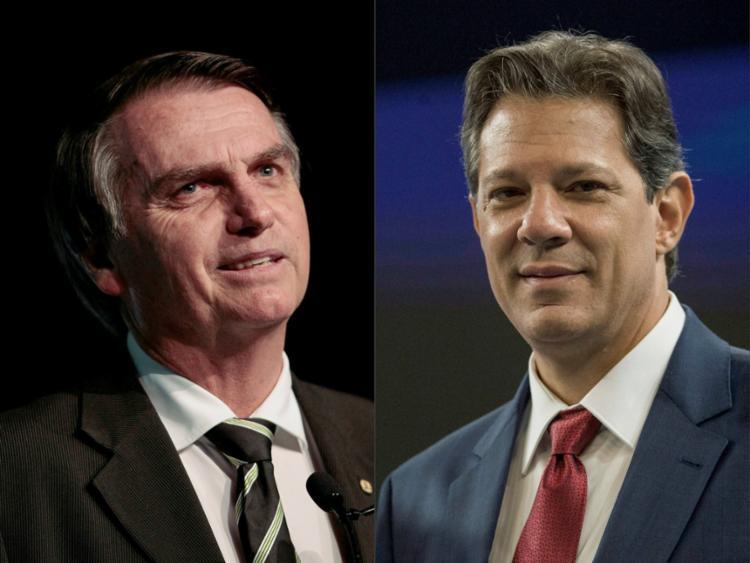 Levantamento mostrou que a diferença entre os presidenciáveis diminuiu em relação à última pesquisa - Foto: Miguel Schincariol e Daniel Ramalho l AFP