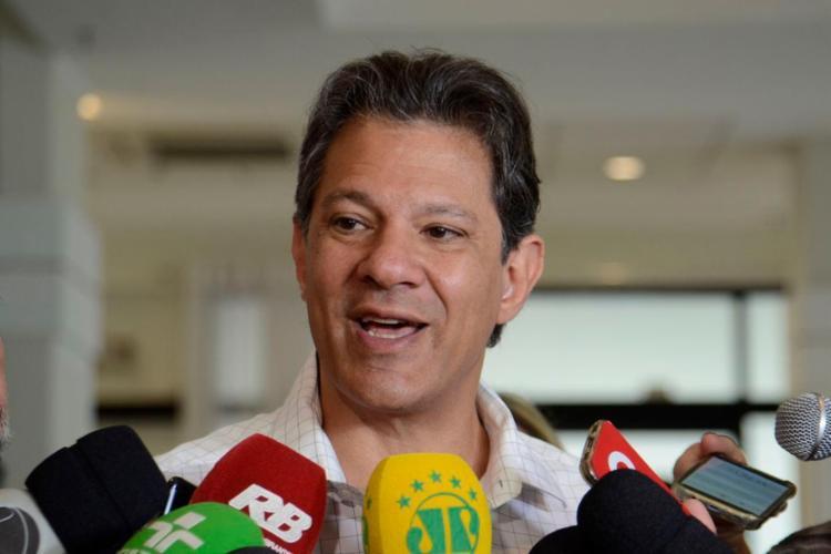 Haddad vai receber em São Paulo um grupo de pastores evangélicos contrários a Bolsonaro - Foto: Rovena Rosa l Agência Brasil