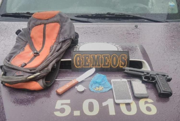 Materiais apreendidos pela polícia com o suspeito - Foto: Divulgação | SSP-BA
