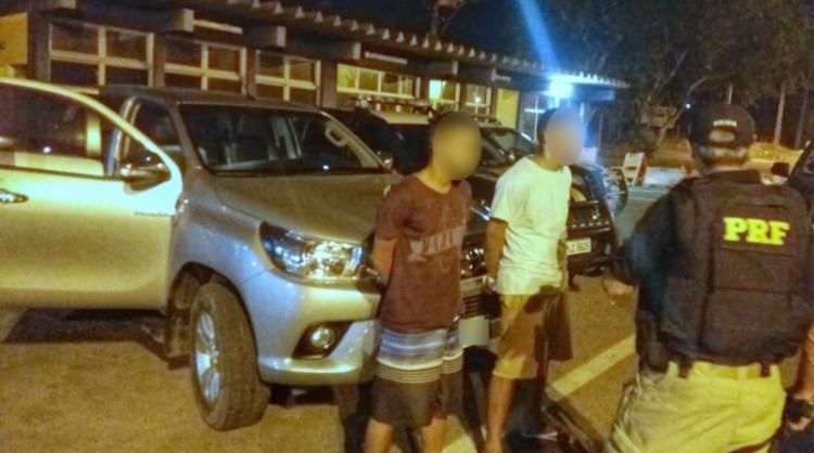 Os suspeitos foram presos na noite de quinta-feira, 19 - Foto: Reprodução | PRF