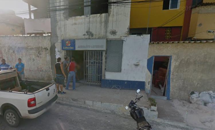 A lotérica foi assaltada por dois homens fica localizada na Boca do Rio, orla de Salvador - Foto: Reprodução | Google Maps