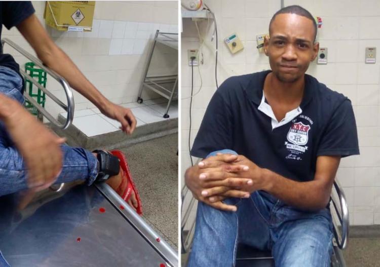Matheus Amorim Silva, 24 anos, foi levado para o Hospital Geral do Estado (HGE)
