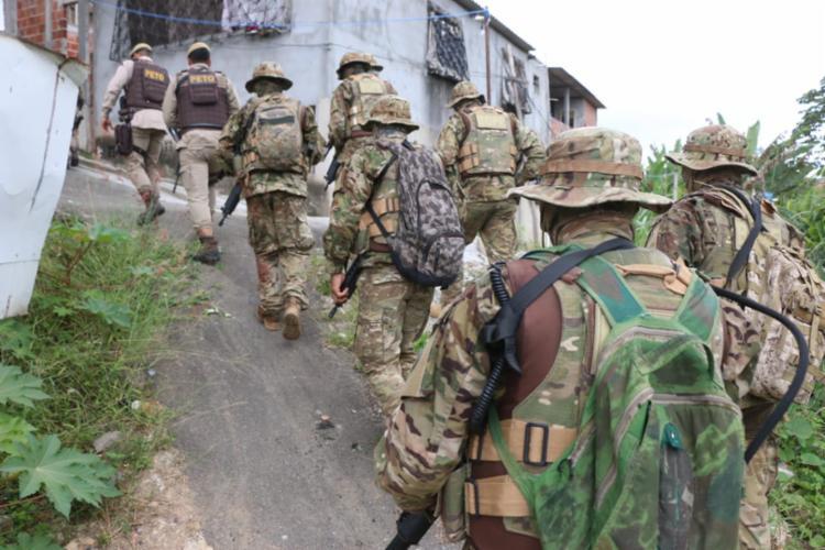 Agentes do Bope, Graer e CIPM participaram da megaoperação em Valéria