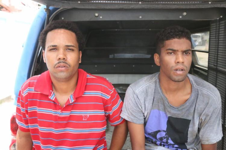 Felipe da Conceição e Felipe Neves foram presos com drogas durante a ação