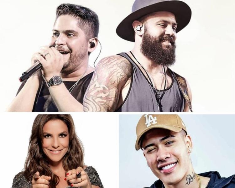 A dupla Jorge e Mateus, a cantora Ivete Sangalo e o funkeiro Kevinho farão parte da programação do evento - Foto: Divulgação
