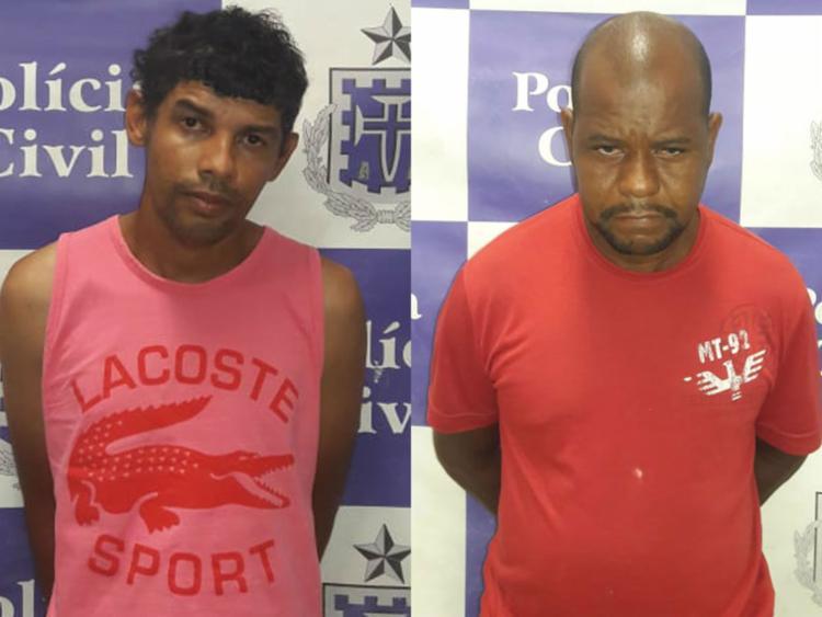 Fabiano (à esquerda) e Claudio foram presos nesta quarta-feira - Foto: Divulgação | SSP-BA