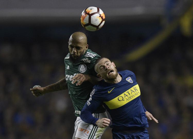 O Verdão vacilou no fim da partida e saiu em desvantagem para o segundo jogo - Foto: Juan Mabromata l AFP