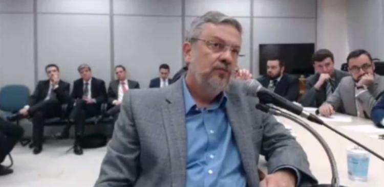 Palocci relacionou parte da arrecadação ilícita com compensação de empresas por contratos obtidos com a Petrobras - Foto: Reprodução l Justiça Federal do Paraná