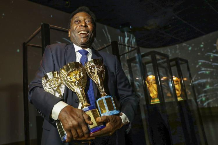 Péle já conquistou as copas de 1958, 1962 e 1970 - Foto: Divulgação | CBF
