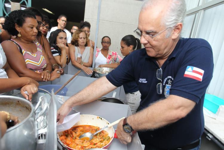 O evento reuniu além de culinária, música e artesanato realizado pelos servidores - Foto: Elói Corrêa | GOV BA