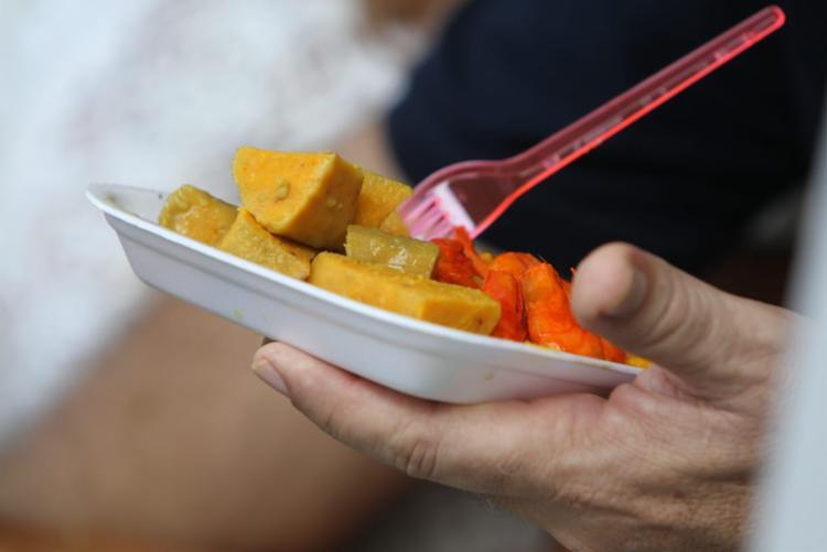 A Feira Gourmet contou com acarajés e abarás do investigador Márcio Seixas