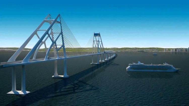 Cinco empresas chinesas já mostraram interesse na construção da ponte - Foto: Divulgação