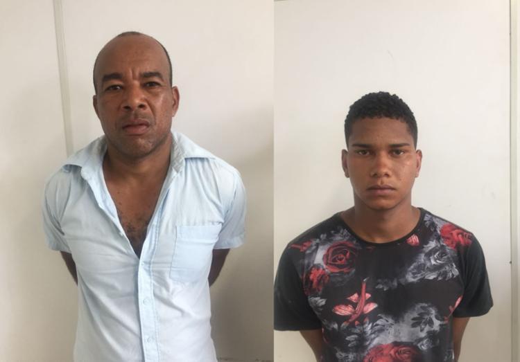 Geraldo Gonçalves e Augusto da Silva foram levados à Delegacia de Repressão a Furtos e Roubos de Veículos (DRFRV) - Foto: Divulgação l SSP-BA