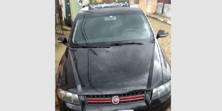 Após o roubo, os reféns foram colocados no porta-malas do carro e liberados em Camamu. - Foto: Divulgação