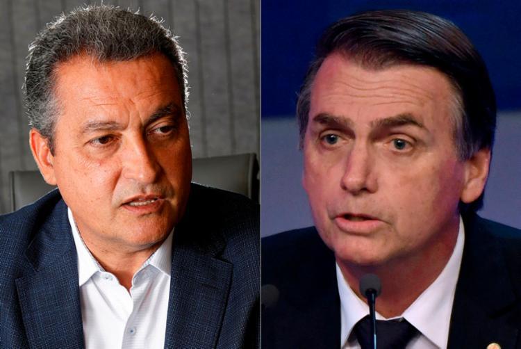 Rui Costa considerou 'lamentável' o comentário do candidato Jair Bolsonaro - Foto: Margarida Neide | Ag. A TARDE e Nelson Almeida | AFP
