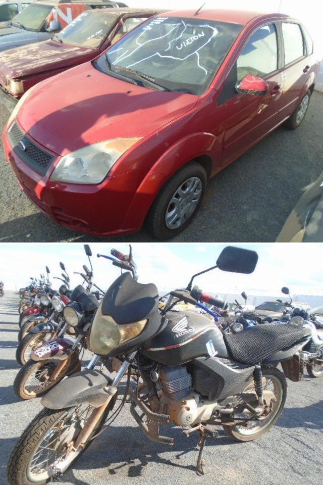 Os lances iniciais serão de R$ 200, a exemplo das motocicletas, e os carros R$ 1 mil