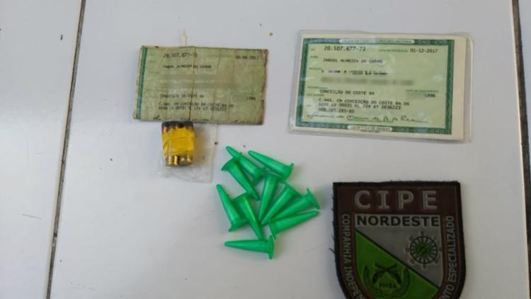 Jardel foi encaminhado junto com o material à Delegacia Territorial de Conceição do Coité - Foto: Divulgação | SSP-BA