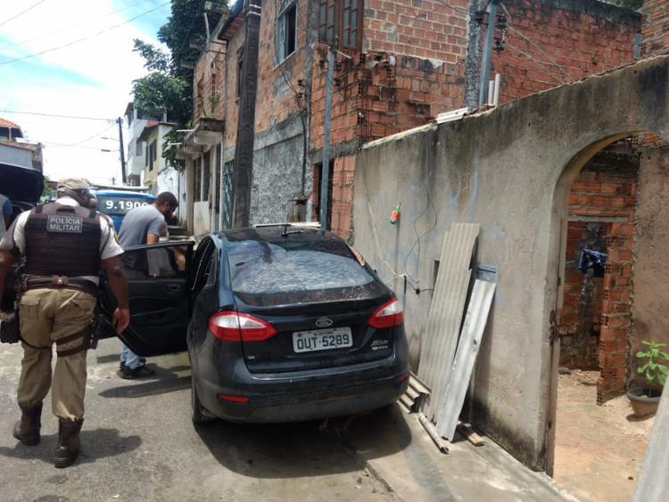 Fiesta, placa OUT 5289 teria sido roubado em Simões Filho - Foto: Divulgação   SSP-BA