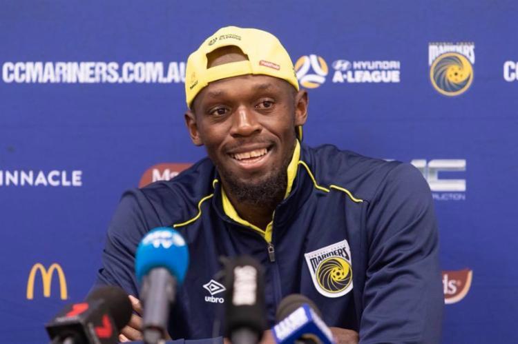 Bolt marcou dois gols como titular na equipe Central Coast Mariners, da Austrália - Foto: Reprodução | Facebook