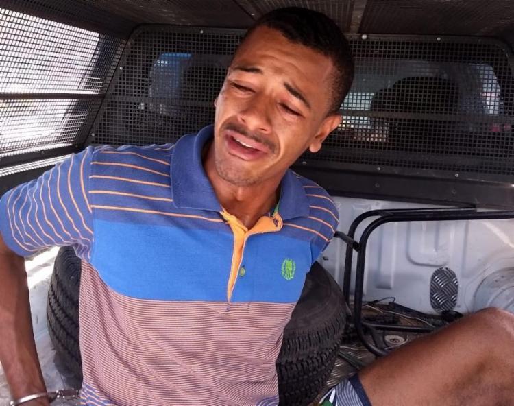 Tiago Pedreira foi preso após ser flagrado com as peças roubadas - Foto: Divulgação | SSP-BA