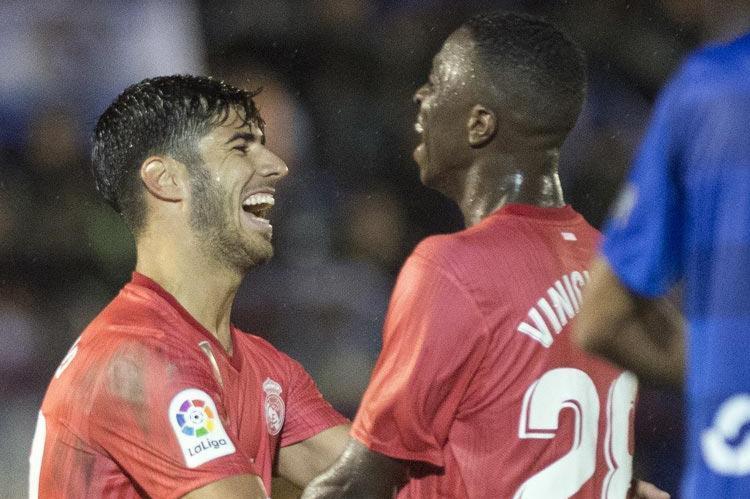 No primeiro jogo sob o comando de Santiago Solari, interino escala time de jovens e supera o Melilla, time da terceira divisão nacional - Foto: Jorge Guerrero l AFP