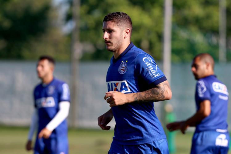 Zé Rafael volta ao time após cumprir suspensão contra o Corinthians pelo Campeonato Brasileiro - Foto: Felipe Oliveira l EC Bahia