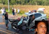 Homem morre após carro bater de frente com carreta na BA-093 | Foto: Reprodução | Site Mais Região