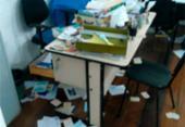 Sede da federação de aposentados é arrombada e saqueada em Salvador | Foto: Cidadão Repórter | via Whatsapp