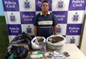 Jovem é preso e adolescente apreendida com mais de 15 kg de drogas | Foto: Divulgação