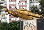 Monumento a Jorge Amado no Imbuí é alvo de vandalismo | Foto: