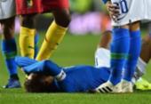 Neymar sofre estiramento a uma semana do duelo PSG-Liverpool | Foto: Glyn Kirk | AFP