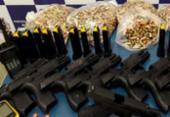 Quarteto é preso com duas mil munições e armas de uso restrito na Bahia | Foto: Divulgação | SSP-BA