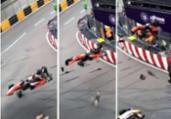 Alemã sofre fratura em acidente chocante na F3; veja vídeo | ANSA | Ansa - Brasil