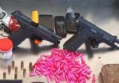 Homens são presos após tentar descartar pistolas e drogas | Divulgação | SSP