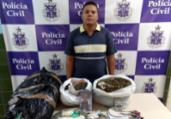 Jovem é preso e menor apreendido com mais de 15 kg de drogas   Divulgação