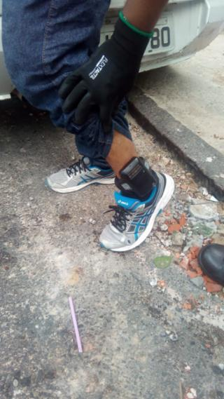 Mesmo com tornozeleira - SSP-BA/Divulgação