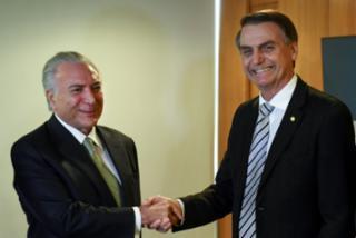 Temer e Jair Bolsonaro se encontram para falar do governo de transição - AFP / EVARISTO SA